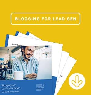 blogging for lead gen