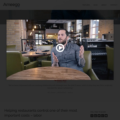 Ameego video testimonials
