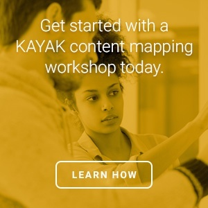 try a KAYAK content mapping workshop today