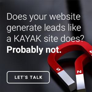 generate online marketing leads with KAYAK