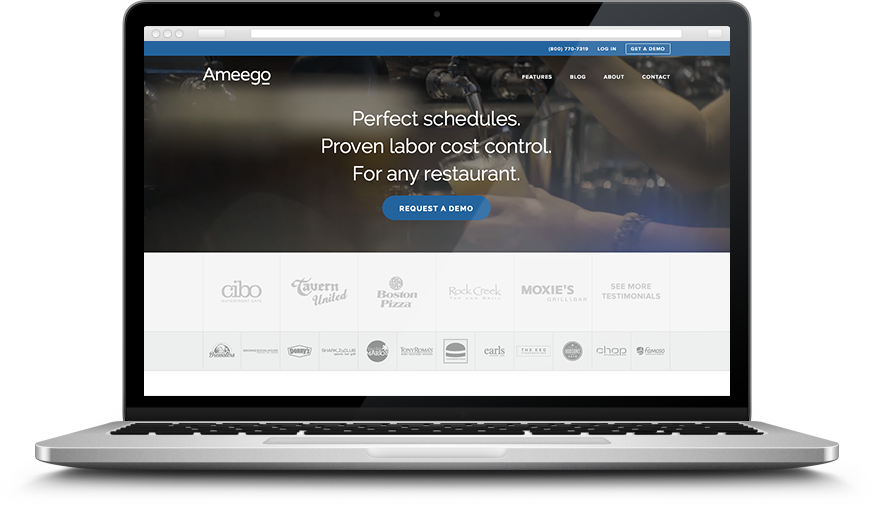 Ameego restaurant scheduling software