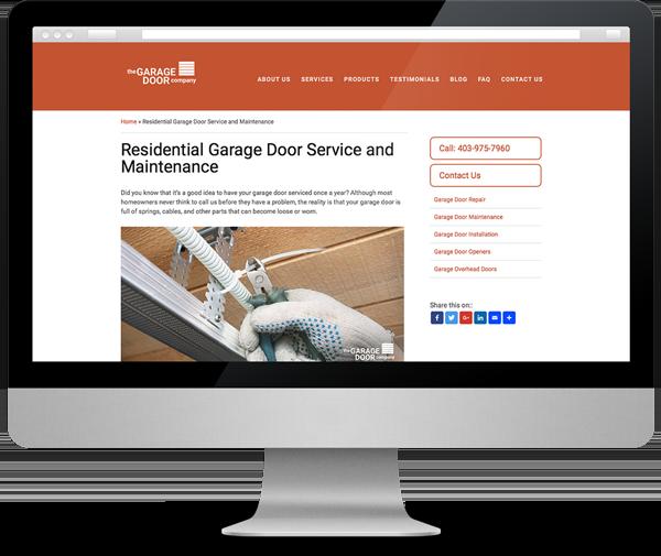 Success: The Garage Door Company Website Redesign