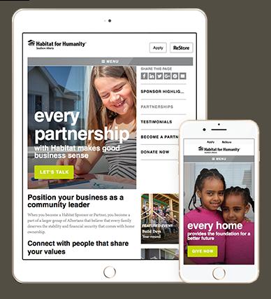 responsive charity website design