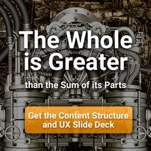 content structure and UX for SEO